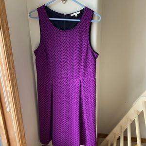 Purple lined dress